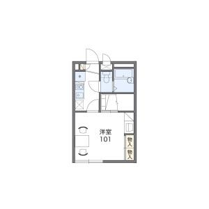 1K Mansion in Buzo - Saitama-shi Minami-ku Floorplan