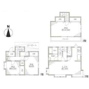 3LDK House in Jiyugaoka - Meguro-ku Floorplan