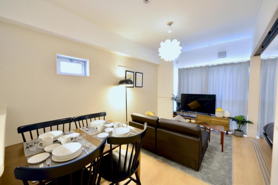 1LDK Apartment to Rent in Okinawa-shi Living Room