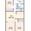 3DK Apartment to Buy in Osaka-shi Nishinari-ku Floorplan