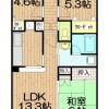 3LDK Apartment to Rent in Toda-shi Floorplan