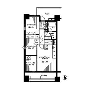 3LDK Mansion in Kitaotsuka - Toshima-ku Floorplan