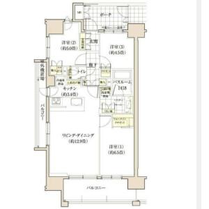 目黒区東山-3LDK公寓大厦 楼层布局