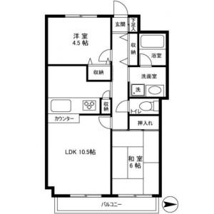 2LDK Mansion in Matsugaya - Taito-ku Floorplan