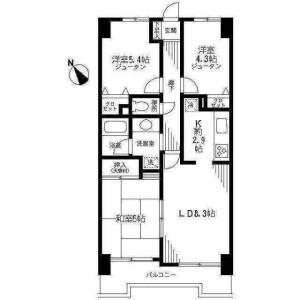 3LDK Mansion in Arai - Ichikawa-shi Floorplan