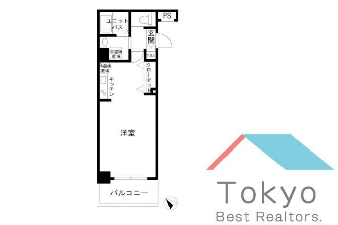 1R Apartment to Rent in Chiyoda-ku Floorplan