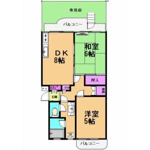 2LDK Mansion in Yagumodai - Chofu-shi Floorplan