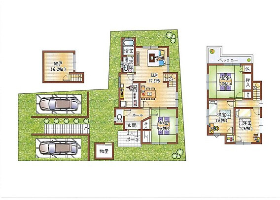4LDK House to Buy in Hirakata-shi Floorplan