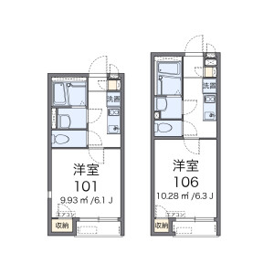 1K Apartment in Otsuka - Hachioji-shi Floorplan