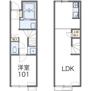 1LDK Apartment in Ishioka - Ishioka-shi Floorplan