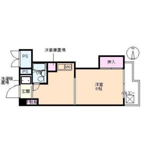 1DK Mansion in Ojima - Koto-ku Floorplan