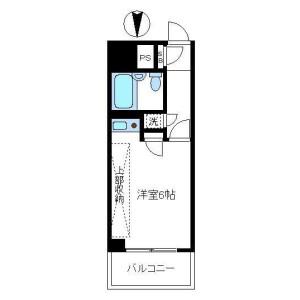 新宿区新宿-1K公寓大厦 楼层布局