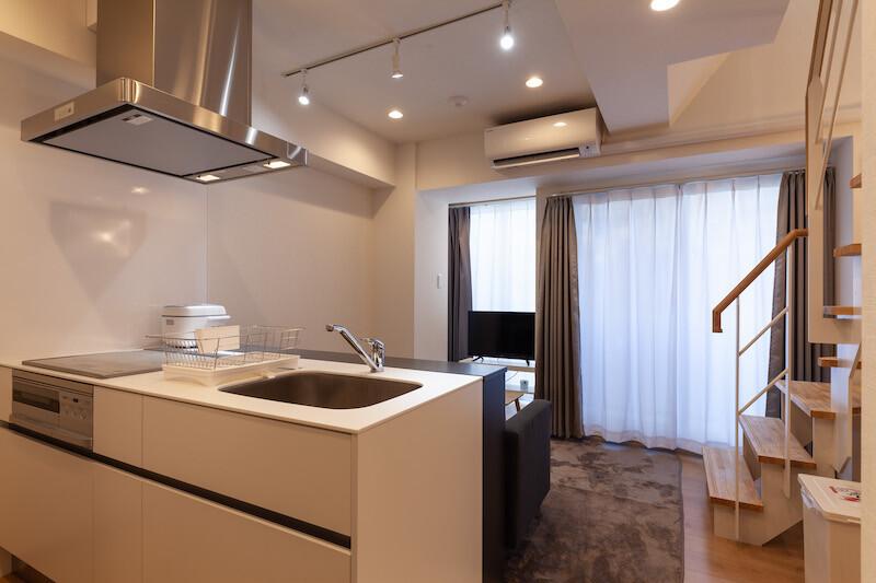 在中央区内租赁1LDK 公寓大厦 的 内部