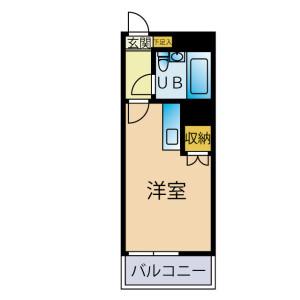 1R Mansion in Midoricho - Tokorozawa-shi Floorplan