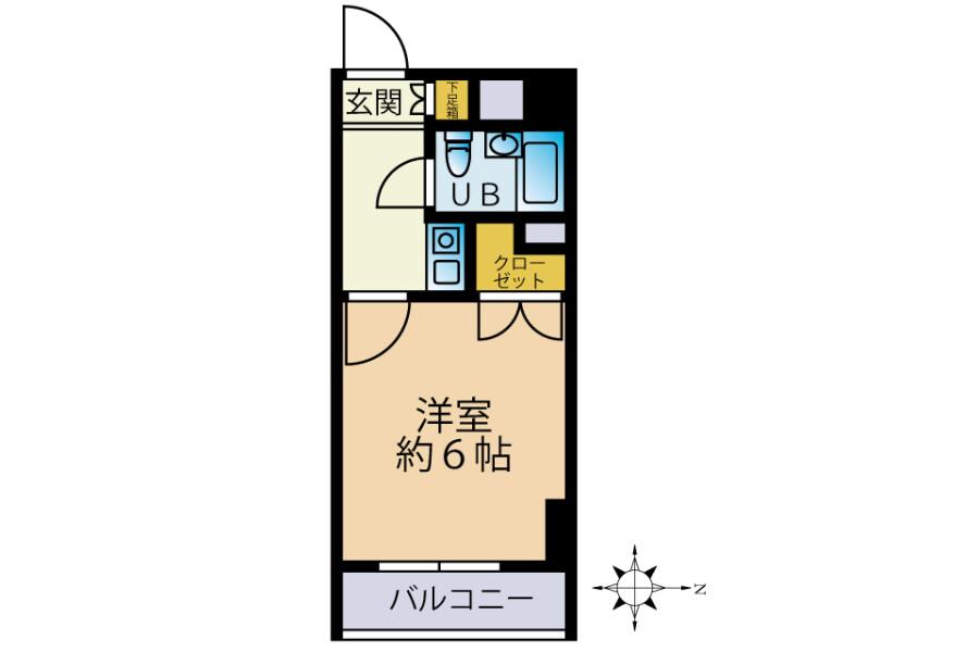 1K Apartment to Buy in Hachioji-shi Floorplan