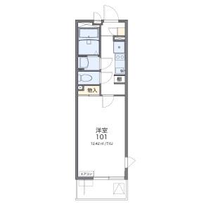 1K Apartment in Kitaurawa - Saitama-shi Urawa-ku Floorplan