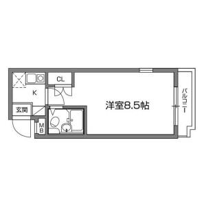 新宿区 高田馬場 1K マンション 間取り