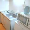 在横浜市港北区内租赁1K 公寓大厦 的 厨房