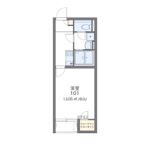 1K Apartment in Nakamichi - Osaka-shi Higashinari-ku Floorplan