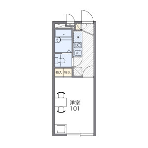 1K Mansion in Hoyacho - Nishitokyo-shi Floorplan