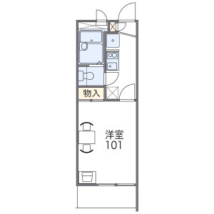 1K Mansion in Higashiyamacho - Higashiosaka-shi Floorplan