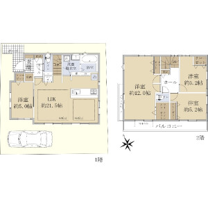 4LDK {building type} in Fujimidai - Nerima-ku Floorplan