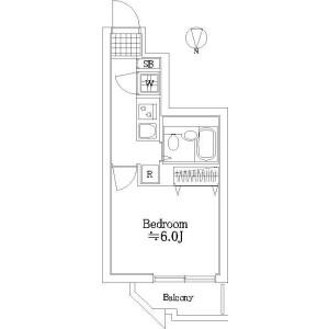 1K Mansion in Higashi - Shibuya-ku Floorplan