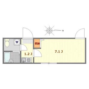 江户川区南小岩-1K公寓 楼层布局
