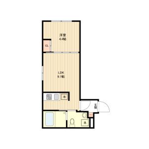 1LDK Mansion in Ikegami - Ota-ku Floorplan
