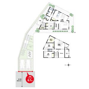 4LDK {building type} in Aoyamadai - Suita-shi Floorplan
