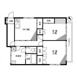 2LDK Mansion in Kitakoshigaya - Koshigaya-shi Floorplan