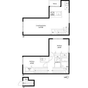 2LDK Apartment in Kameido - Koto-ku Floorplan