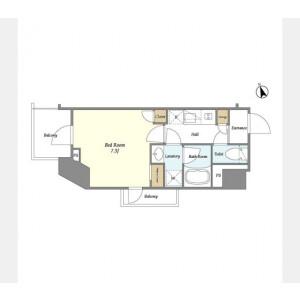 1K Mansion in Aobadai - Meguro-ku Floorplan
