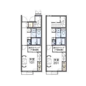 1K Apartment in Nao - Mie-gun Asahi-cho Floorplan
