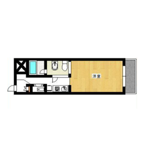 1R {building type} in Shinjuku - Shinjuku-ku Floorplan