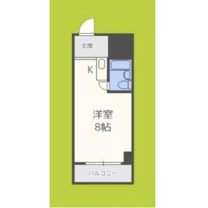 1R Mansion in Kozu - Osaka-shi Chuo-ku Floorplan