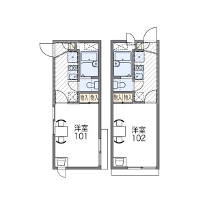 1K Apartment in Oimazatominami - Osaka-shi Higashinari-ku Floorplan