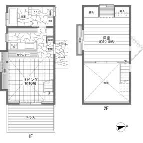 1LDK {building type} in Hotchi - Kitasaku-gun Karuizawa-machi Floorplan