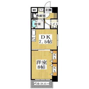 1DK Mansion in Minamikyuhojimachi - Osaka-shi Chuo-ku Floorplan