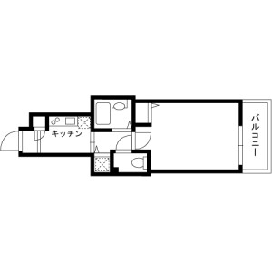 1K Mansion in Saga - Koto-ku Floorplan