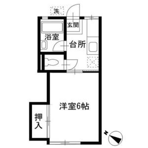 1K Apartment in Daigiri - Fujisawa-shi Floorplan