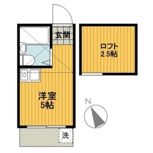 1R Apartment in Saitobuncho - Yokohama-shi Kanagawa-ku Floorplan