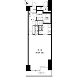 1R {building type} in Hirano - Minamitsuru-gun Yamanakako-mura Floorplan