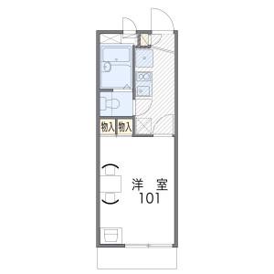 1K Apartment in Nagasu nakadori - Amagasaki-shi Floorplan
