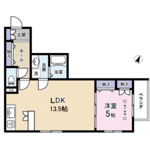 1LDK Mansion in Meguro - Meguro-ku Floorplan