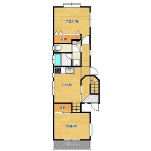 2DK House in Akatsutsumi - Setagaya-ku Floorplan