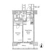 1LDK Apartment to Rent in Koto-ku Floorplan