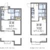 在中野区内租赁1K 公寓 的 楼层布局