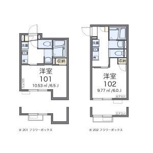 中野区中央-1K公寓 楼层布局