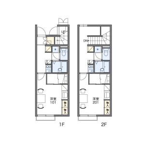 1K Apartment in Fujikata - Tsu-shi Floorplan